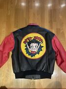 Vintage 1996 Betty Boop American Toons Leather Jacket Size Large