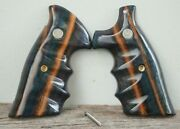 Combat Grips For Sandw N Frame Square Butt Model 57, 29 Stabilized Wood 3
