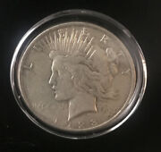 1923-d Peace Silver Dollar Sealed In Nice And White Condition