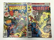 The Invaders 34 35 High Grade Whizzer Union Jack 1978 Bronze Age Marvel Comics