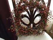 Pip Berry Fall Wreath, Candle Rings, And Garland Valerie Parr Hill Qvc