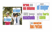 Inspired Minds Positivity Booster Spanish Posters, 11 X 17 Inches, Set Of 5