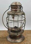 Antique Beach And Lawrence Mfg. Excelsior Railroad Style Lantern Nickel Over Brass