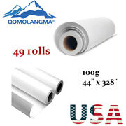 Us Stock 49 Rolls 100g 44 X 328andacute High Tacky / Sticky Sublimation Transfer Paper