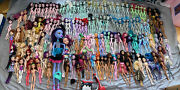Huge Lot Almost 160 Dolls Monster High + Ever After Dolls As Is First Wave