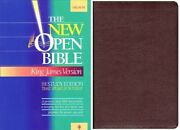 Holy Bible New Open Bible, Study Edition, King James - Hardcover