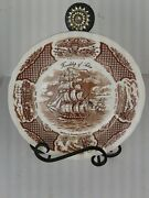 Lot Of 6 Friendship Of Salem Transfer Ware Plates Dishes Tall Ships England