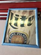 Rare Vintage 1992 Miller Lite Bar Mirror - Brand New In Protective Wrap