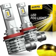Auxito H8 H11 H9 Led Front Fog Driving Light 3000k Yellow Golden Bulb Drl Canbus