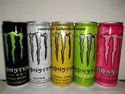 Rare 2021 Korea Monster Energy Drink 5 Cans Set 355ml Empty For Collectible
