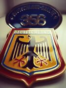 Gift Set Of 2x German Rally Country Grill Badges Compatible With Porsche 356abc