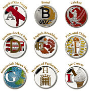 Pre Order A-z 10p Coin Coloured Decal Stickers Metallic Look