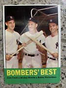 1963 Topps 173 Bomber's Best Mantle Ex-plus Awesome Color And Surface