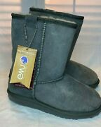 Emu Boots 100 Aussie Sheepskin Stinger Lo Boots Size 7 Charcoal New Mid Calf