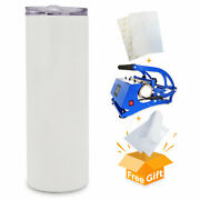 500pcs 20oz Sublimation Blank Skinny Tumbler Stainless Steel Insulated Pick Up