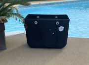 Large Bogg Bag Original Beach Tote Navy Rare Sold Out Hard To Find Nwt Auth