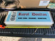 Royal Doulton Light Up Store Sign Old Store Vintage Rare Old Show Piece