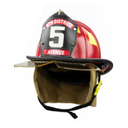 Cairns 1044 Classic Helmet Osha Nfpa Bourkes And Defender Visor Deluxe Red New
