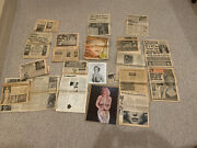 Huge Mix Marilyn Monroe 1970s Newspaper Tabloid Article Lot Plus 11x14 And 8x10