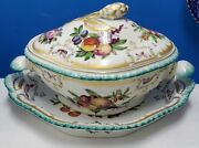 Mottahedeh Portugal Duke Of Gloucester Soup Tureen 3pc -base, Lid, Underplate