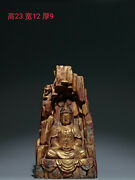 China Ancient Tang Dynasty Old Buddhism Niche Gilt Copper Buddha Statue Ornament