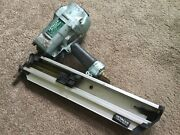 Hitachi Nr90ac3 Round Head Framing Nailer 2-3/8-3-1/2 In, Gr8t Working Condition