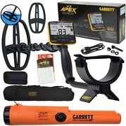 Garrett Ace Apex Metal Detector With Pro-pointer At Z-lynk And Carry...