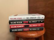 Lot Of 4 Bill O'reilly Killing Series Hardcover Book Set Lincoln Reagan Kennedy