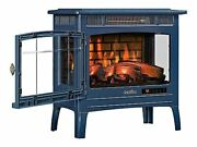 Duraflame 3d Infrared Electric Fireplace Stove With Remote Control, Navy - Dfi-5