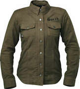 Speed And Strength Womenand039s Brat Armored Flannel Shirt Olive Black Jacket Size