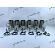 Free Shipping Dm100 Cylinder Liner Kit For Hino Diesel Engine