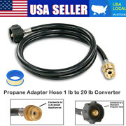 6ft Qcc Propane Adapter Hose Lp Tank 1lb To 20lb Converter For Weber Q Gas Grill