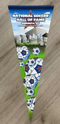 National Soccer Hall Of Fame Pennant Oneonta New York Ny Rare Closed Museum