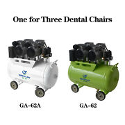 60l Dental Silent Oil Free Oilless Air Compressor 1200w One For 3 Dental Chairs