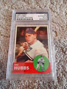 1963 Topps 15 Ken Hubbs Signed Baseball Rookie Of The Year Psa/dna Chicago Cubs