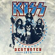 Kiss Retro Style 1976 Concert Tie Dye T-shirt - Destroyer - Sm - Med - Lg - Nwt