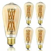 Led Edison Filament Amber Bulb 15wequivalent 100wdimmable Warm White 2500k