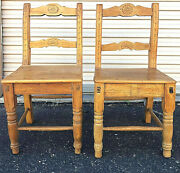 20 Off Pair New Mexico Chairs Empire 19th Cent. And039ca 1850-70and039 33 X 16 X 15