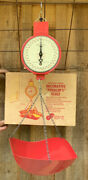 Vintage American Family Scale Red Hanging Scale With Box Decorative Scale And Box
