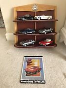 Franklin Mint Collection - 6 Diecast Model Cars 124 With Display Shelf