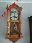 German Fhs Hermle Westminster Chime Wall Clock 0400