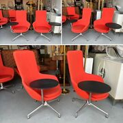 Fantastic Modern Swivel Lounge Chair With Revolving Table By Keilhauer