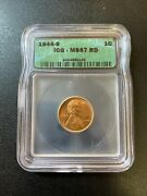 1944 S Wheat Cent Icg Ms-67 Rd - Red Wheat Penny - Uncirculated - Certified - 1c