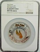 2020 2 Oz Silver 5 Samoa Harry Potter The Golden Snitch Coin Ngc Pl69uc