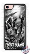 Halloween Zombie Coming Out Personalized Phone Case Cover Fits Iphone Samsung