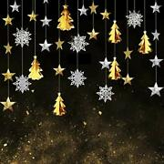 Christmas Decorations Clearance-metallic 3d Xmas Tree Gold And Silver