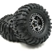 2pc 2.2 Crawler Mud Tire Sticky Soft Tyre 125mm And Alloy Ghost 2.2 Beadlock Wheel