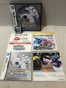 Pokemon Soul Silver Nintendo Ds Complete W/poster. 100 Authentic. Fast Shipping