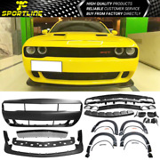 Fits 08-14 Dodge Challenger Front Bumper Cover And Demon Style Lip And Fender Flares