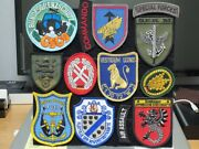 German Po Military Special Forcesand039 Insignia Patches Board /vintage Original